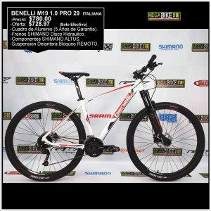 Bicicleta-guayaquil-mtb-montañera-talla-mega-bike-store-bike-shimano-benelli-m19-1.0-pro-aluminio-shimano-altus-aro-29-rojo-blanco.