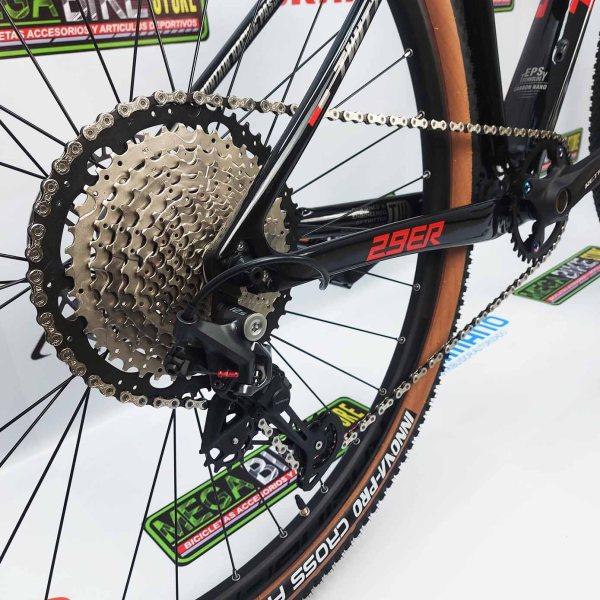 Bicicleta-guayaquil-mtb-montañera-talla-mega-bike-store-bike-shimano-twitter-leopard-aro-29-carbono-negro-rojo.