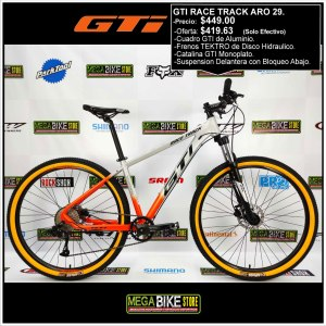 Bicicleta-guayaquil-mtb-montañera-talla-mega-bike-store-bike-shimano-gti-race-track-aro-29-aluminio-gris-naranja.