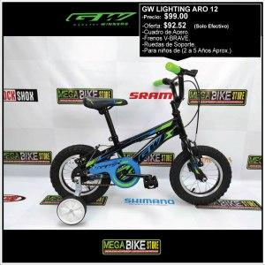 Bicicleta-guayaquil-mtb-montañera-talla-mega-bike-store-bike-shimano-gw-lighting-aro-12-acero-verde-negro.