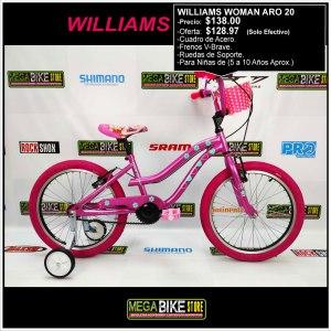 Bicicleta-guayaquil-mtb-montañera-talla-mega-bike-store-bike-shimano-williams-woman-aro-20-acero-rosado