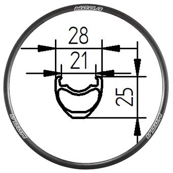29C+ tubeless clincher rim