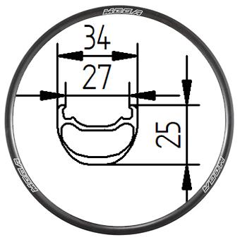 29C+34D, 29 inch Tubeless clincher MTB rim