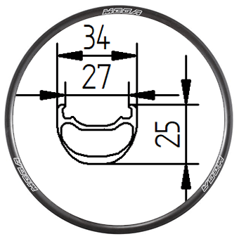 29C+34D tubeless clincher rim