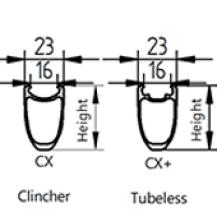 CX clincher CX+ Tubeless
