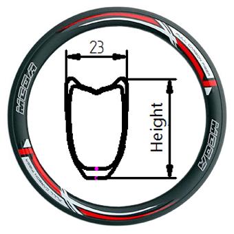 TX tubular rim 23mm width