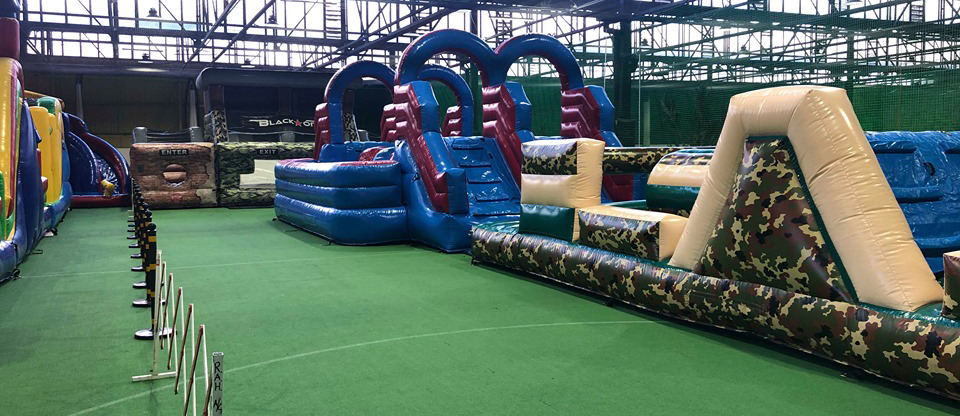 Inflatable Obstacle Course | Mega Courts Indoor Sports