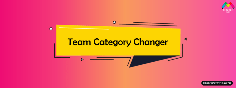 Team Category Changer for EA Sports Cricket 07