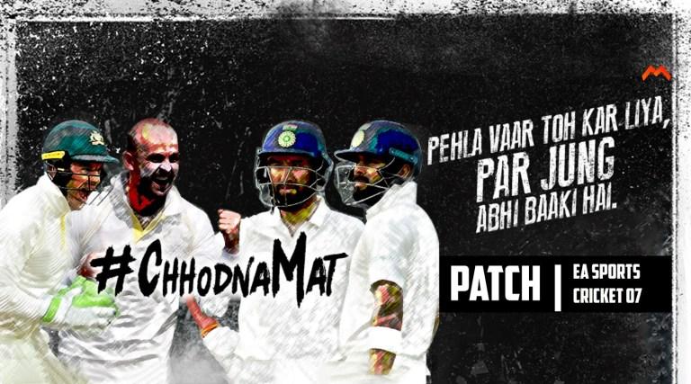 India Tour of Australia 2018-19 Patch for EA Cricket 07