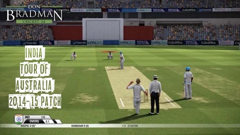 India Tour of Australia 2014-15 Patch for Don Bradman Cricket 14