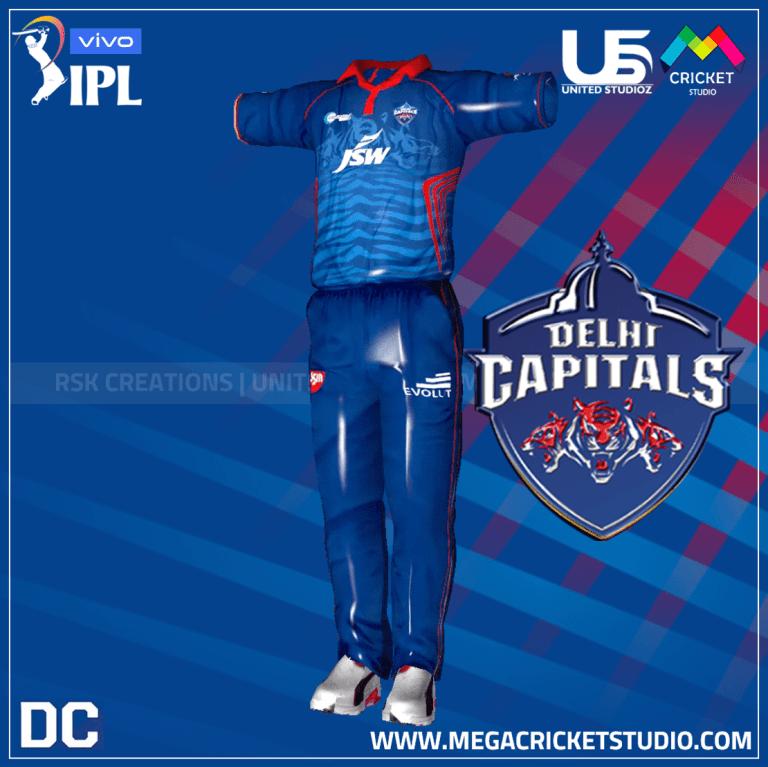 Delhi Capitals VIVO IPL 2021 Kit for EA Sports Cricket 07