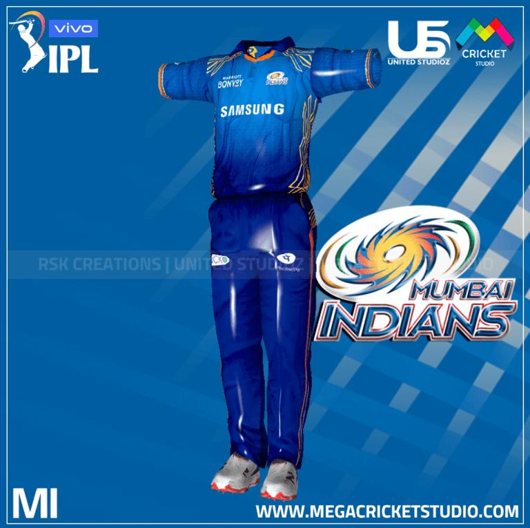 Mumbai Indians VIVO IPL 2021 Kit for EA Sports Cricket 07
