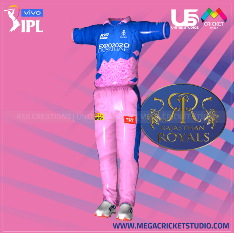 Rajasthan Royal VIVO IPL 2021 Kit for EA Sports Cricket 07