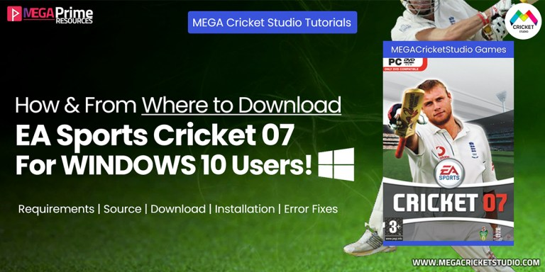 EA Cricket 07 for Windows 10 | How to Download, Install & Fix Errors in Windows 10