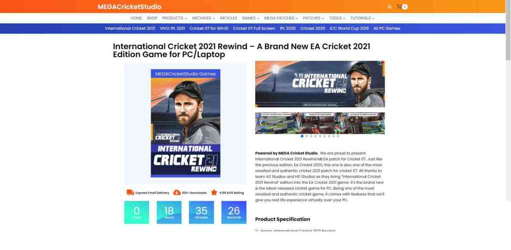 how to download cricket 2021 rewind patch