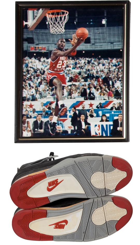 1989 Michael Jordan NBA All-Star Game Worn & Signed Sneakers