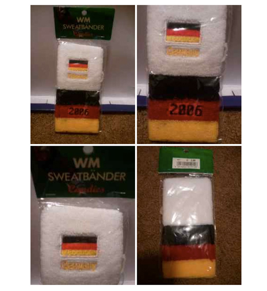 Unopened German Sweatbands From 2006 World Cup Year