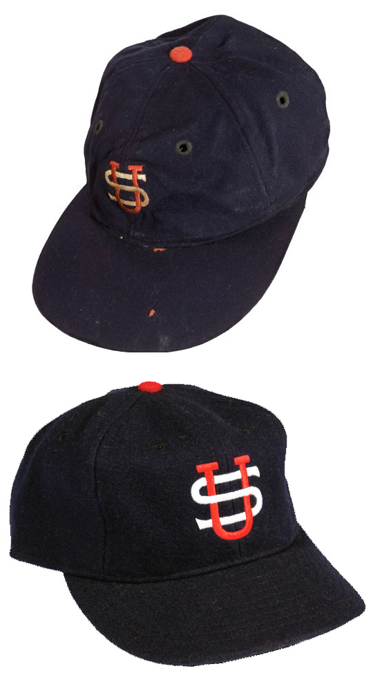 1934 Lou Gehrig Tour of Japan Game Worn Cap and Ebbets Field Flannel Throwback