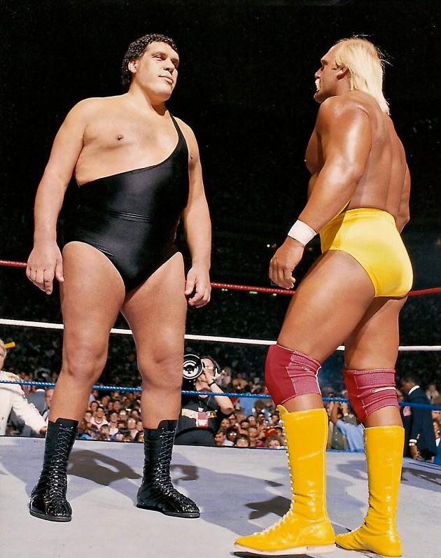 Andre The Giant vs. Hulk Hogan – Photo Find Of The Week