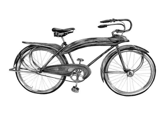 Bicycle Drawings By Kate Copeland