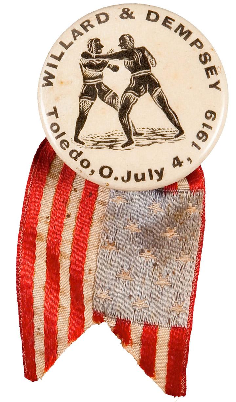 1919 Willard vs. Dempsey Pinback