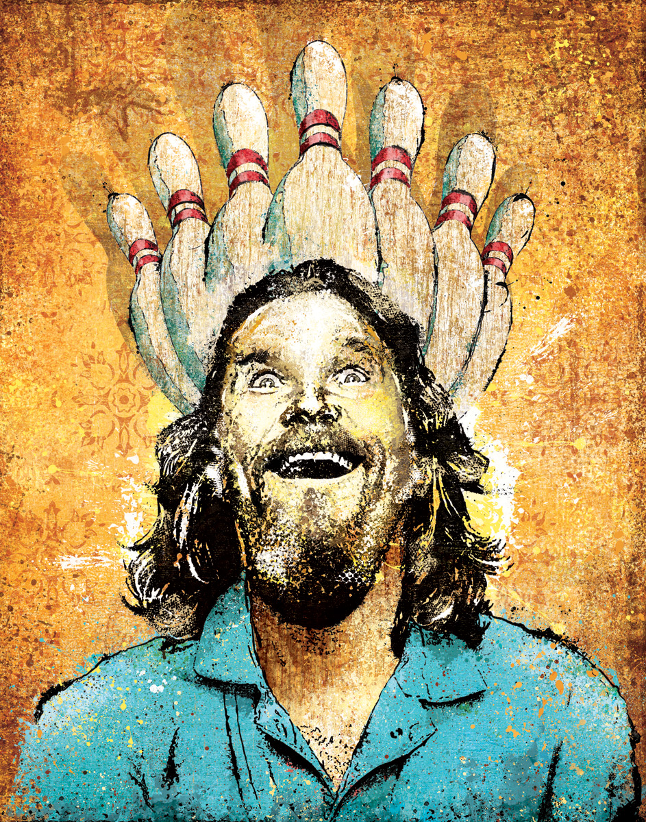 I thought it would be fun to try and incorporate this moment of ecstasy for the Lebowski character and reference the religion of bowling that permeates the film.  I truly didn't expect the popularity of the movie to be as far-reaching as it is.  I've shipped this print all over the world.