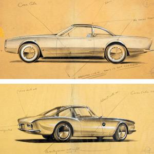 Raymond Loewy Studabaker Avanti Concept Drawings :: March 1961