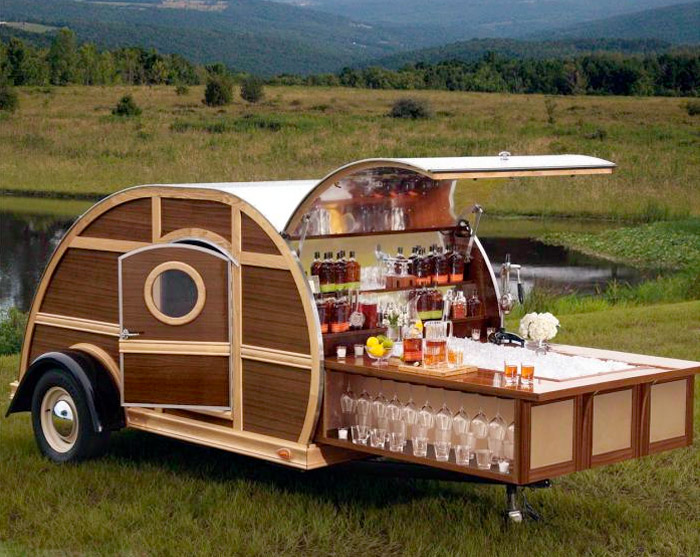 The Bulleit Frontier Whiskey Woody-Tailgate Trailer