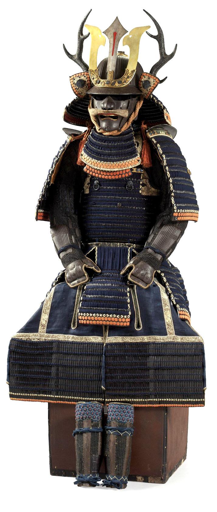 A blue-laced NIMAI-DO GUSOKU (ARMOR)