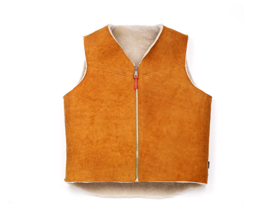 Shearling Wool Vest :: Best Made