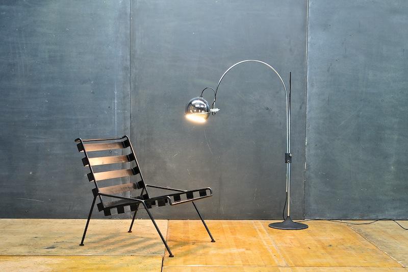 Vintage Mid-Century Modern and Rare GEPO Arc-Eye Floor Lamp