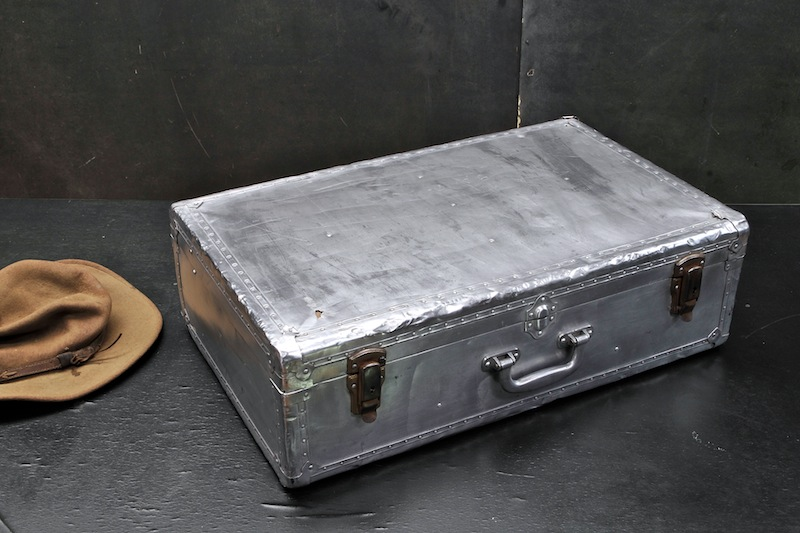 Vintage PanAm Aluminum Suitcase