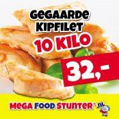 gegaarde kipfilet 10 kilo 32 euro