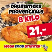 drumsticks provencaals 8 kilo 21 euro