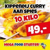 kippendij curry aan spies