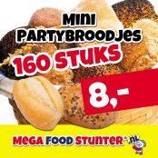 mini partybroodjes 160 stuks 8 euro