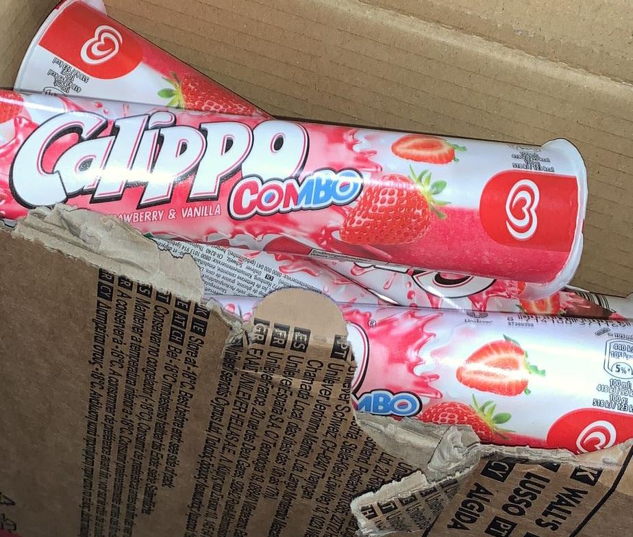 Calippo strawberry & vanille 24x105ml