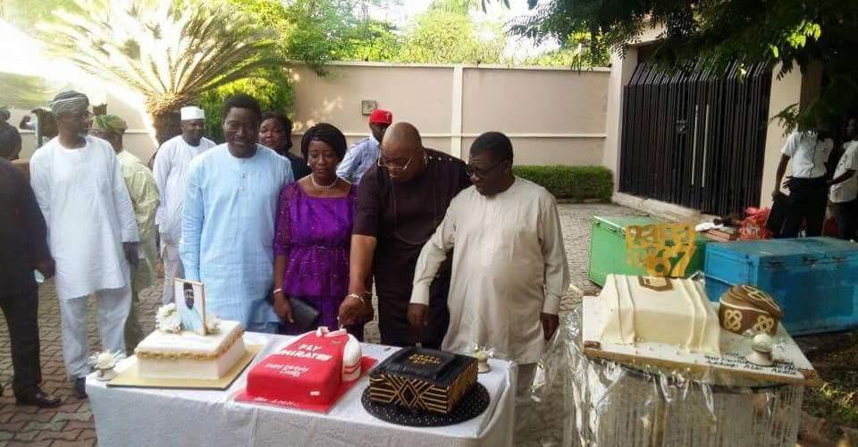 Harvest of cakes @ Alao Akala's 67th Birthday.