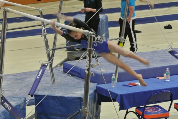 BSU Open 2012 Bars Half Turn Dismount - Level 5