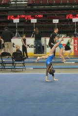 Gem State Invitational 2013 Floor Leaving Handstand - Level 6