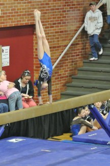 Idaho State Championships 2013 Beam Side Handstand - Level 6