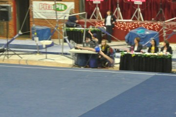 Idaho State Championships 2013 Floor Split Leap - Level 6