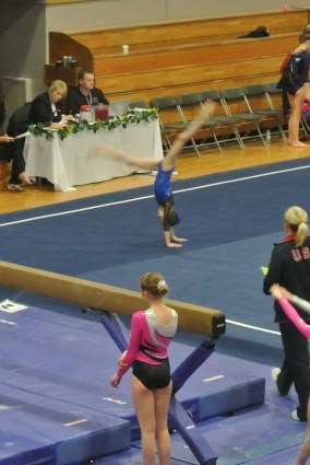 Idaho State Championships 2013 Floor Back Walkover - Level 6