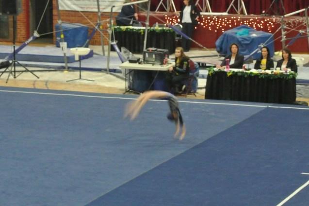 Idaho State Championships 2013 Floor Back Handspring - Level 6