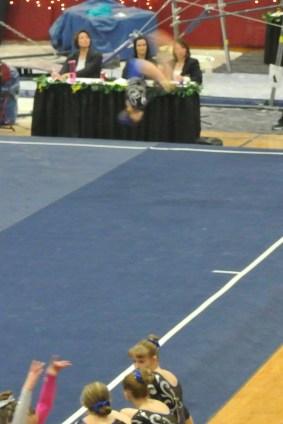 Idaho State Championships 2013 Floor Back Tuck - Level 6