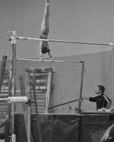 Intrasquad Meet 2013 Bars - Level 7 - There it is, first giant of the routine