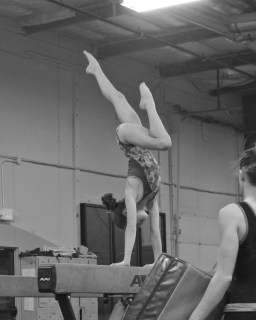 Intrasquad Meet 2013 Beam - Level 7 - And one last strength pose