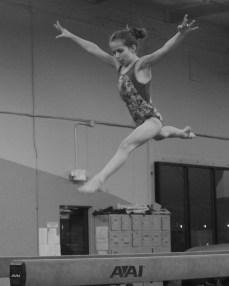 Intrasquad Meet 2013 Beam - Level 7 - Beautiful leap