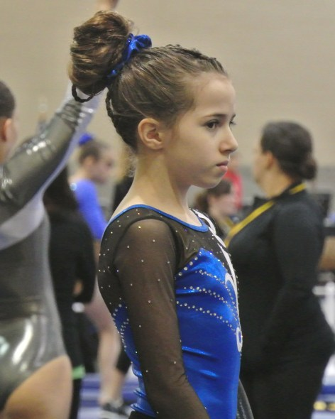 Mentally preparing to do well on floor after a poor performance on beam