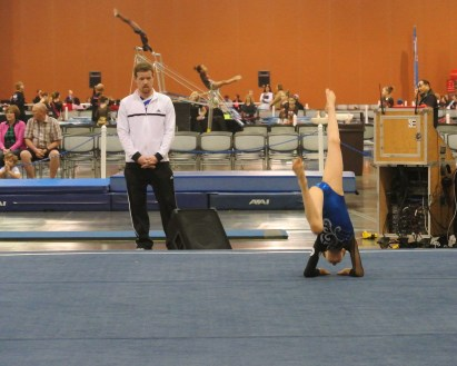 Classic Rock Invitational 2014 Floor Final Pose - Level 7